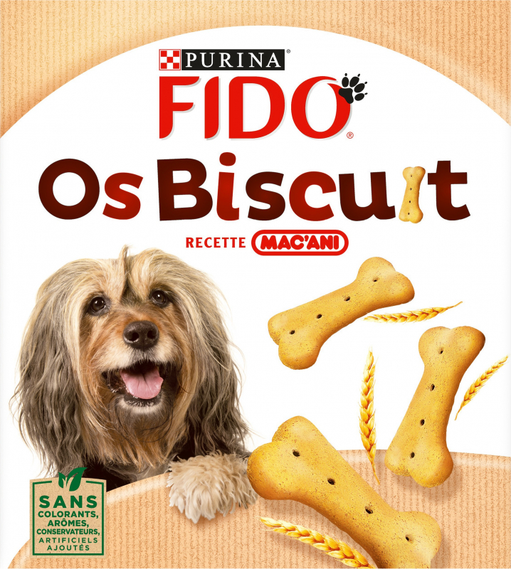 FIDO Os Biscuits Recette Mac'ani pour chien