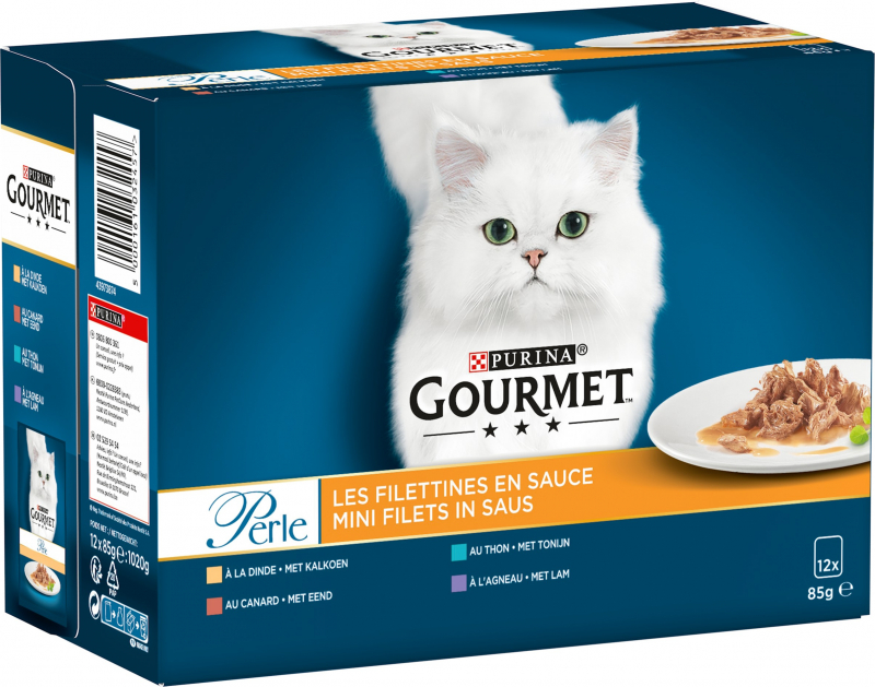 GOURMET Perle Les Filettines - 2 saveurs au choix - 12x85g