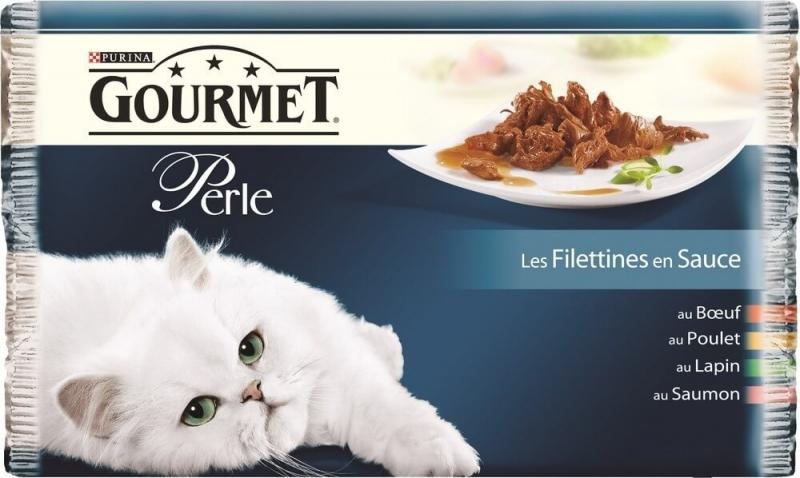 GOURMET GOLD Les Filettines : Bœuf, Poulet, Lapin, Saumon