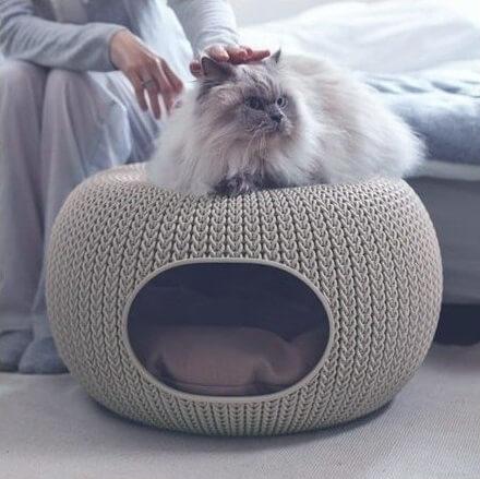 cozy pet home niche d 39 int rieur 2 en 1 couchage chat. Black Bedroom Furniture Sets. Home Design Ideas