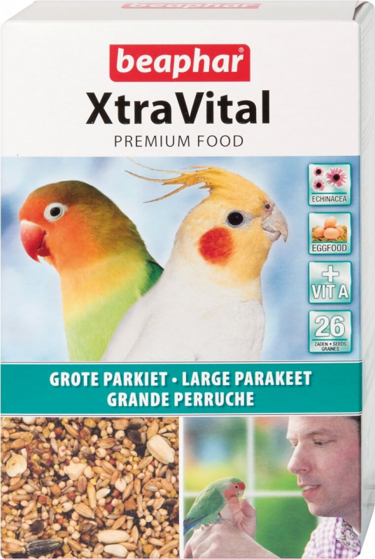 XtraVital, alimentación premium para periquitos grandes