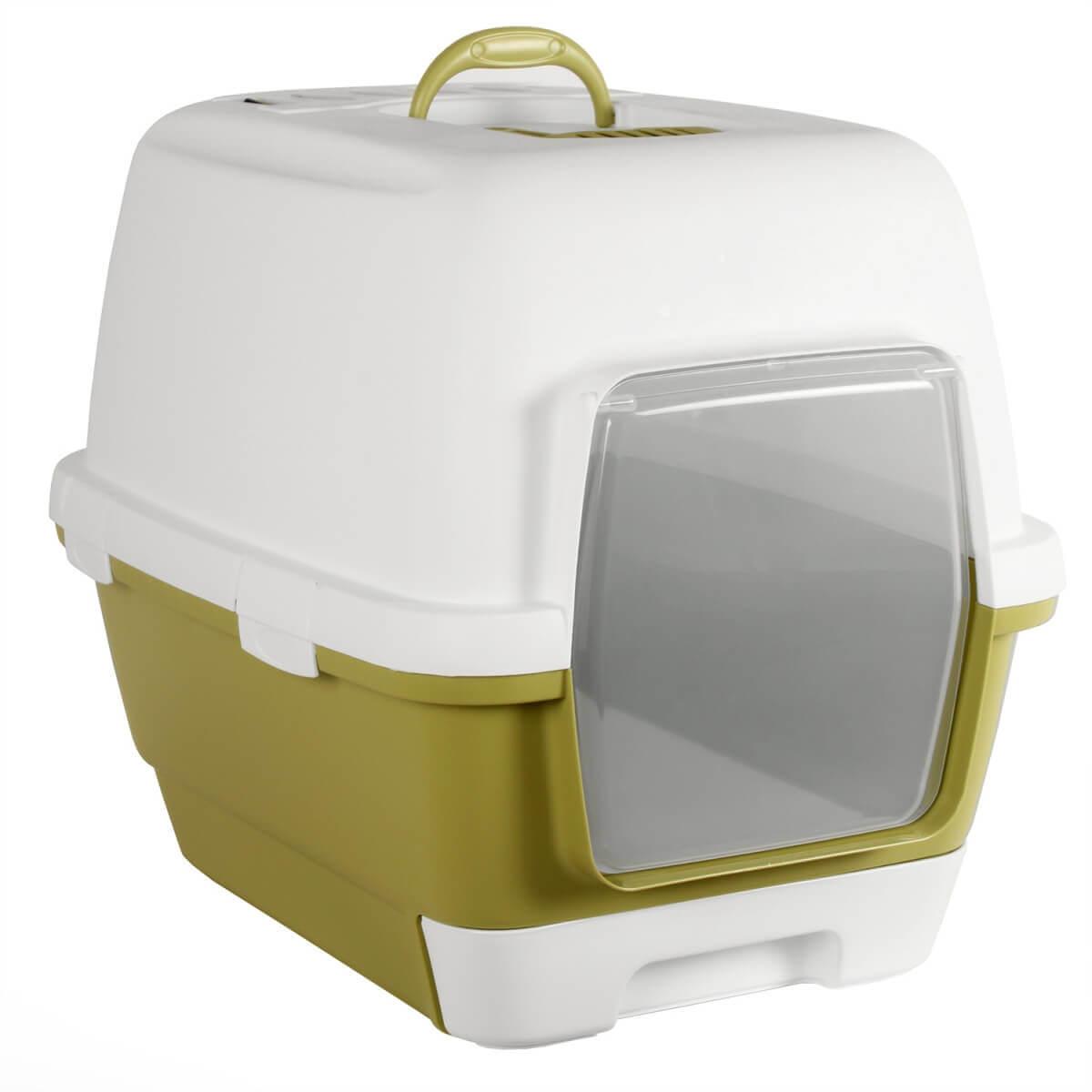 maison de toilette cathy clever pour chat bac et maison de toilette. Black Bedroom Furniture Sets. Home Design Ideas