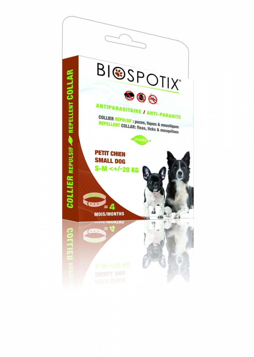 collier r pulsif biospotix pour chiot et chien collier anti parasites. Black Bedroom Furniture Sets. Home Design Ideas