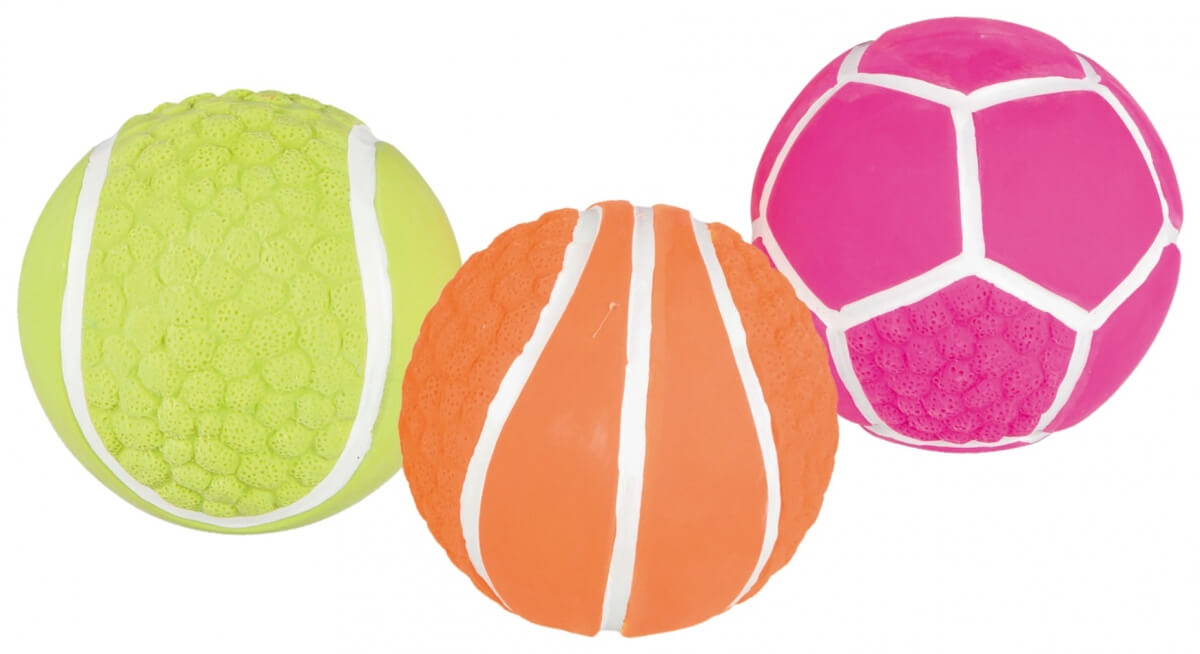 Balle de sport fluo en latex_0
