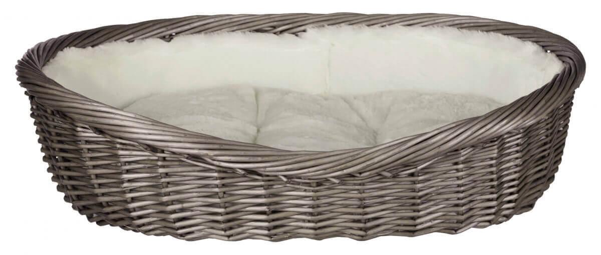 Corbeille osier gris clair pour chien_4
