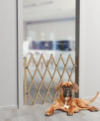 Barriere pour chien extensible en bois STOPFIX H84cm