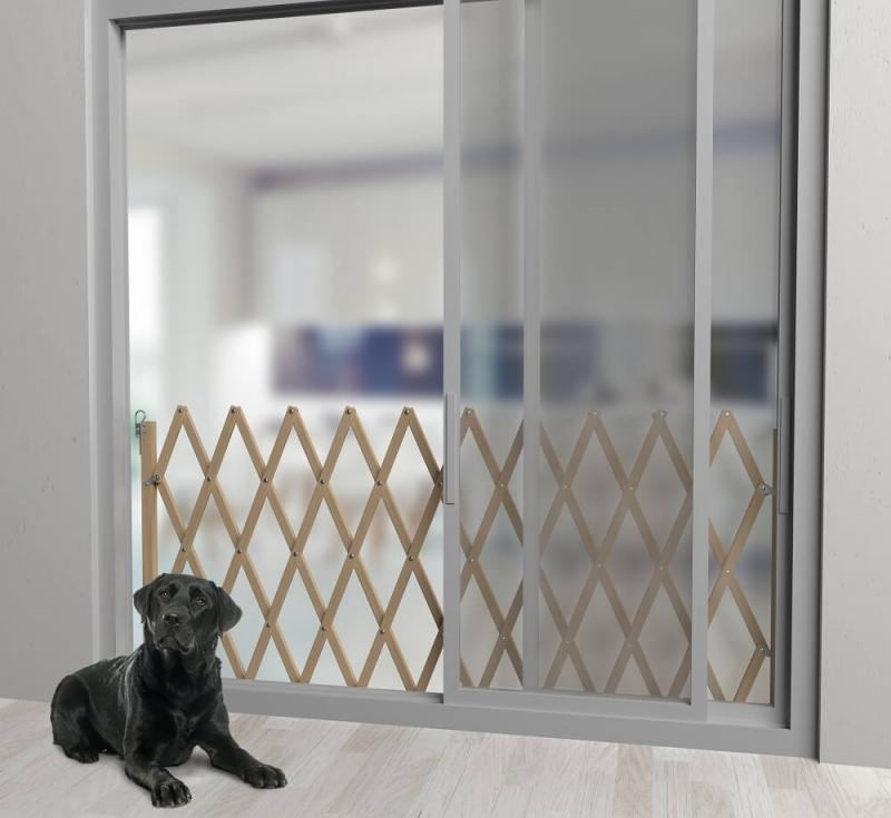 Barriere pour chien extensible en bois STOPMAX H83cm