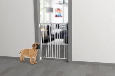 Barriere pour chien en métal MEDOR deux battants H100cm