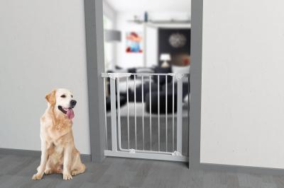 Barriere pour chien métallique MISTY avec portillon H76cm
