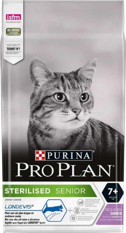 PRO PLAN Cat sterilised 7+ Longevis