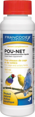 POU-NET antiparasitaire naturel pour oiseaux de cage et de volière