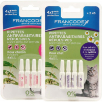 Pipettes antiparasitaires insectifuges pour chaton et chat (1)