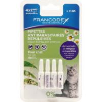 Pipettes antiparasitaires insectifuges pour chaton et chat (3)