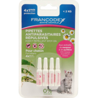 Pipettes antiparasitaires insectifuges pour chaton et chat (2)