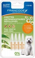 Pipettes antiparasitaires insectifuges pour chien
