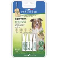Francodex Pipettes antiparasitaires insectifuges pour chien
