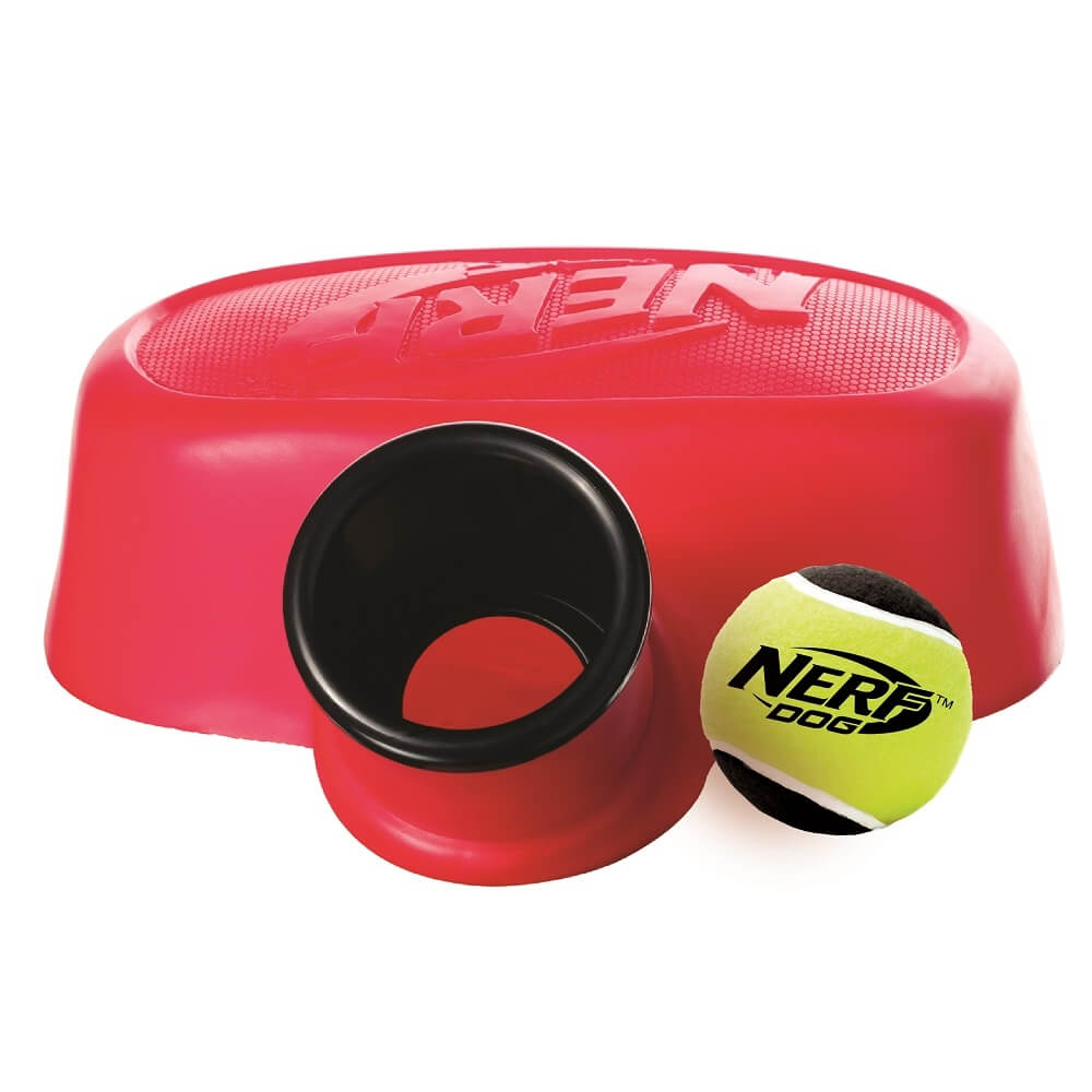 Lanceur de balle de tennis pied jouet pour chien - Lanceur de balle pour chien automatique ...