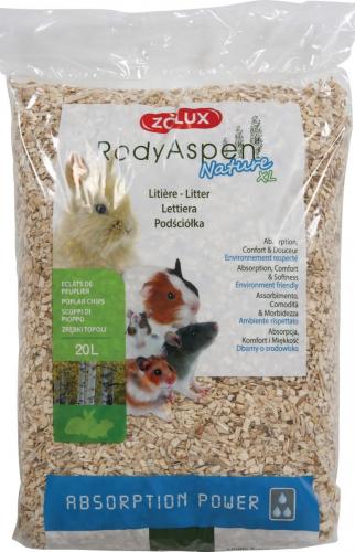 Litière peuplier RodyAspen XL pour grands rongeurs et lapins
