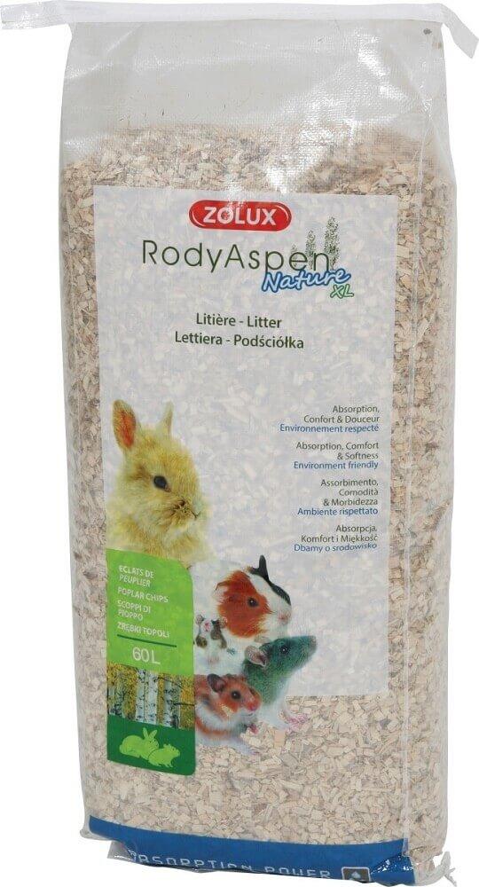 Litière peuplier RodyAspen XL pour grands rongeurs et lapins_1