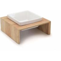 Gamelle en céramique sur support bois (1)
