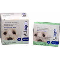 ADMYRIN compresses oculaires chiens et chats