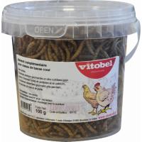 Larvas secas de farinha para galinhas