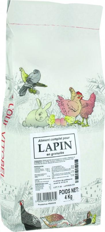 Sac Aliment Lapins Vitobel 4 kg