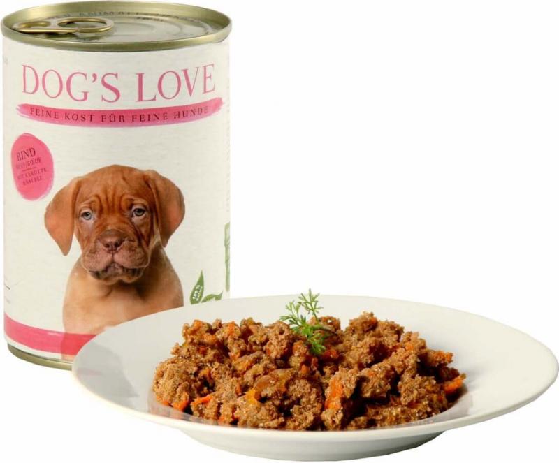 Pâtée boeuf DOG'S LOVE pour chiots et junior