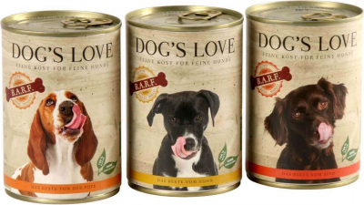 Nassfutter DOG'S LOVE Barf aus 100% Bio-Fleisch