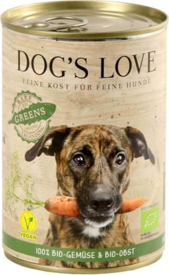 Nassfutter DOG'S LOVE Bio-Greens 100% Gemüse BIO