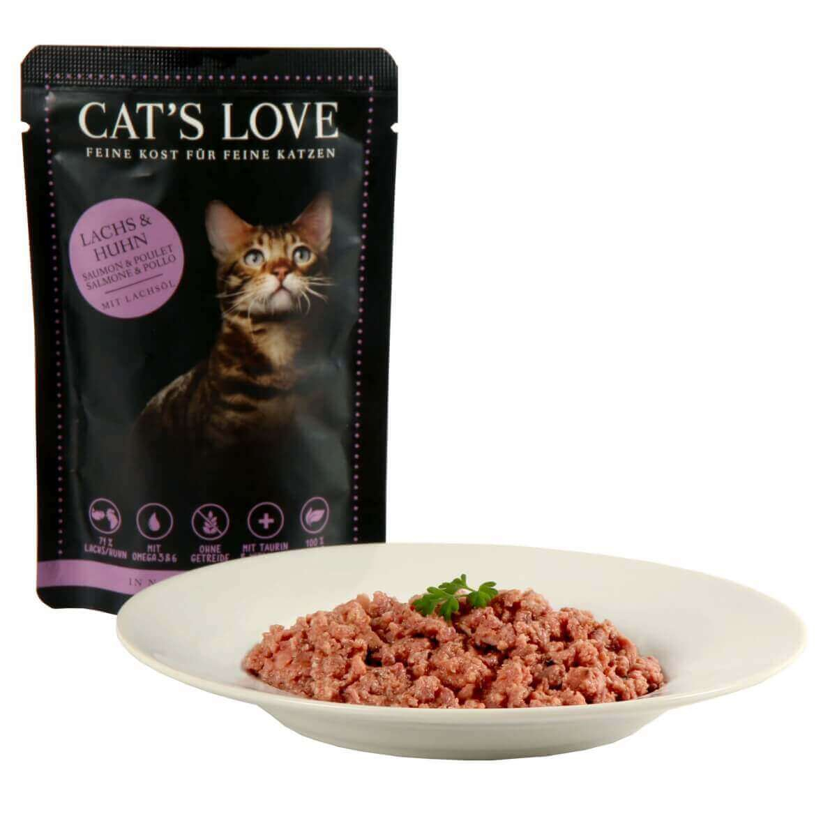 Wet Food CAT'S LOVE Adulte 85g_0