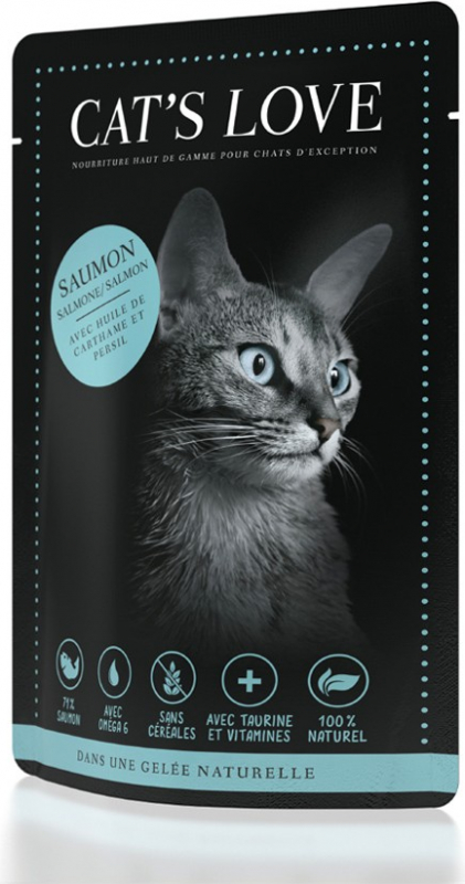 Pâtée naturelle CAT'S LOVE Adulte 85g - 6 saveurs au choix