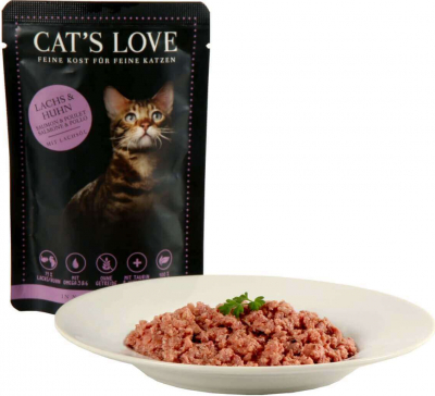 Pâtée naturelle CAT'S LOVE Adulte 85g