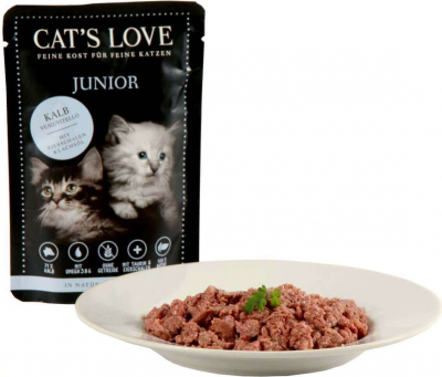 Pâtée naturelle CAT'S LOVE Chaton 85g