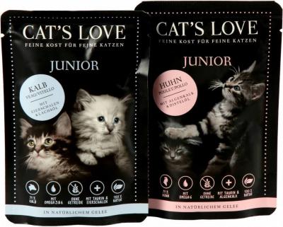 Paté natural CAT'S LOVE para gatito 85gr - 2 sabores disonibles