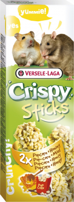 Versele Laga Crispy Sticks Hamsters et Rats Popcorn & Miel