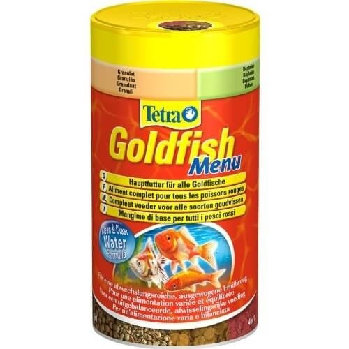 Tetra goldfish menu nourriture en granul s for Goldfish nourriture
