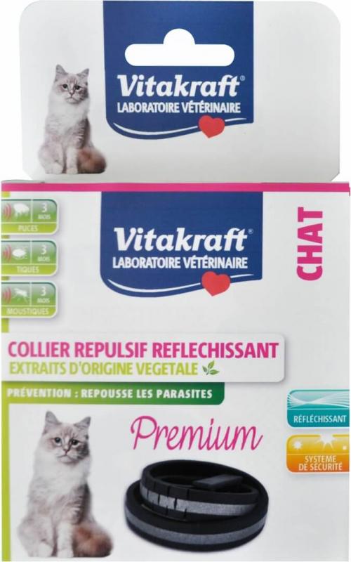 Collier Premium Insectifuge Réfléchissant pour Chat