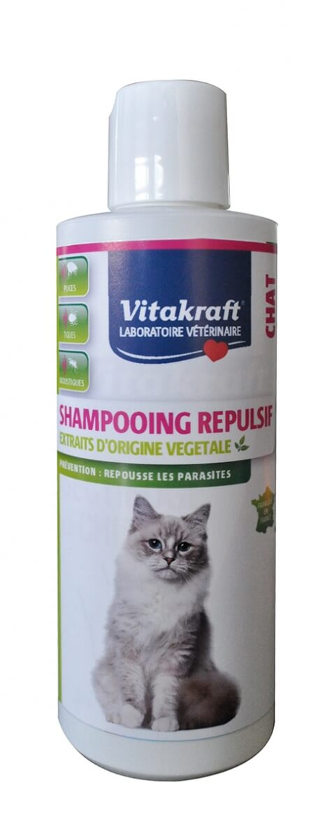 shampooing r pulsif pour chat shampoing anti parasites. Black Bedroom Furniture Sets. Home Design Ideas