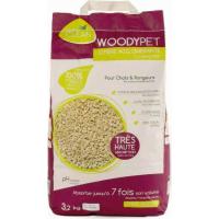 Litière agglomérante pour chat et rongeurs WOODYPET (1)