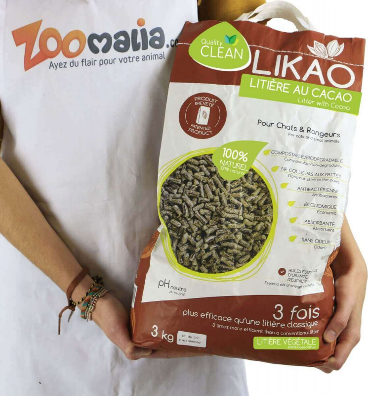 Litière granulés de bois au Cacao LIKAO