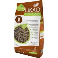 Streu aus Holzgranulaten und Kakao LIKAO