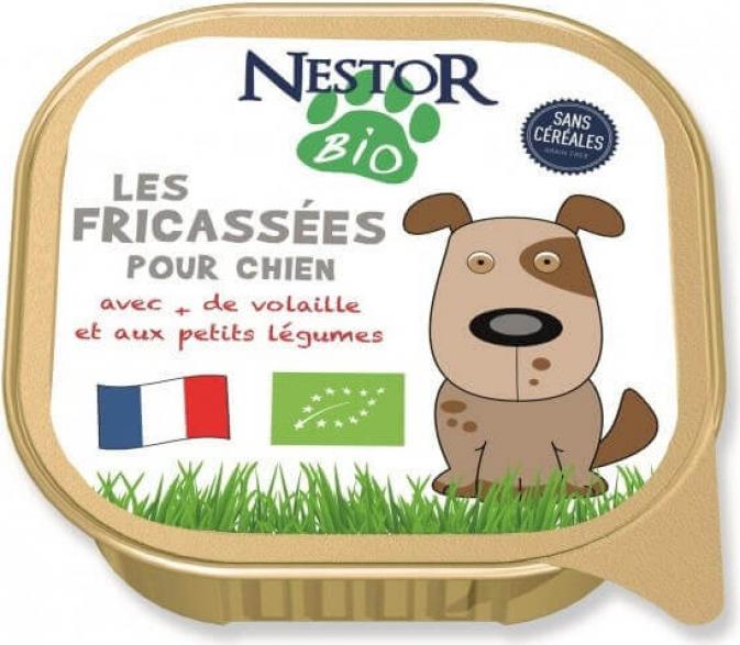 Pack de 10 Pâtées NESTOR BIO Fricassées BIO pour chien de petites races sans céréales