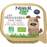 Pâtée NESTOR BIO Fricassées BIO pour chien de petites races sans céréales