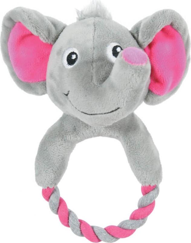 Jouet peluche TOUDOUX éléphant THEO avec corde