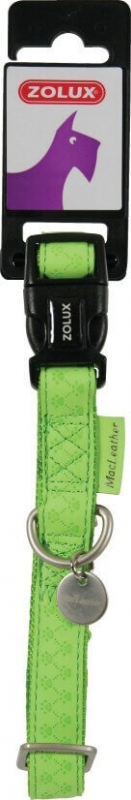 Collier réglable Mac Leather vert anis