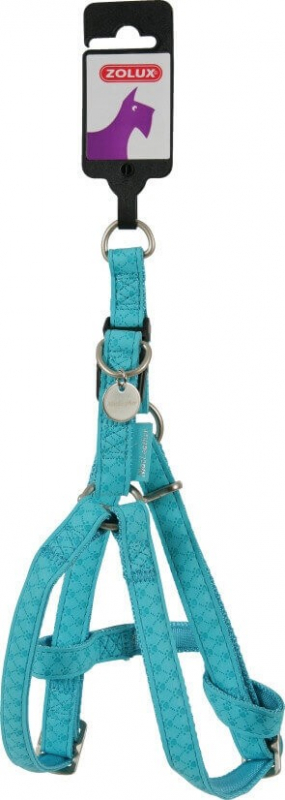 Harnais réglable Mac Leather bleu turquoise