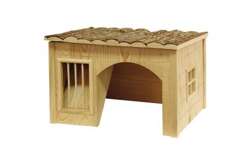 Maison pour rongeurs Nature avec râtelier_1