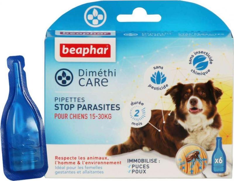 DiméthiCARE, pipettes stop-puces pour chiens