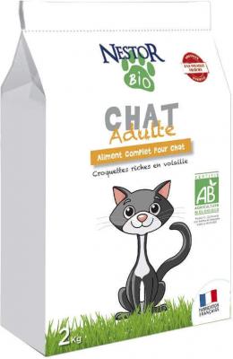 NESTOR BIO Croquettes BIO pour chat adulte